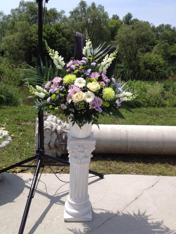 Large White and Lavender Arrangement
