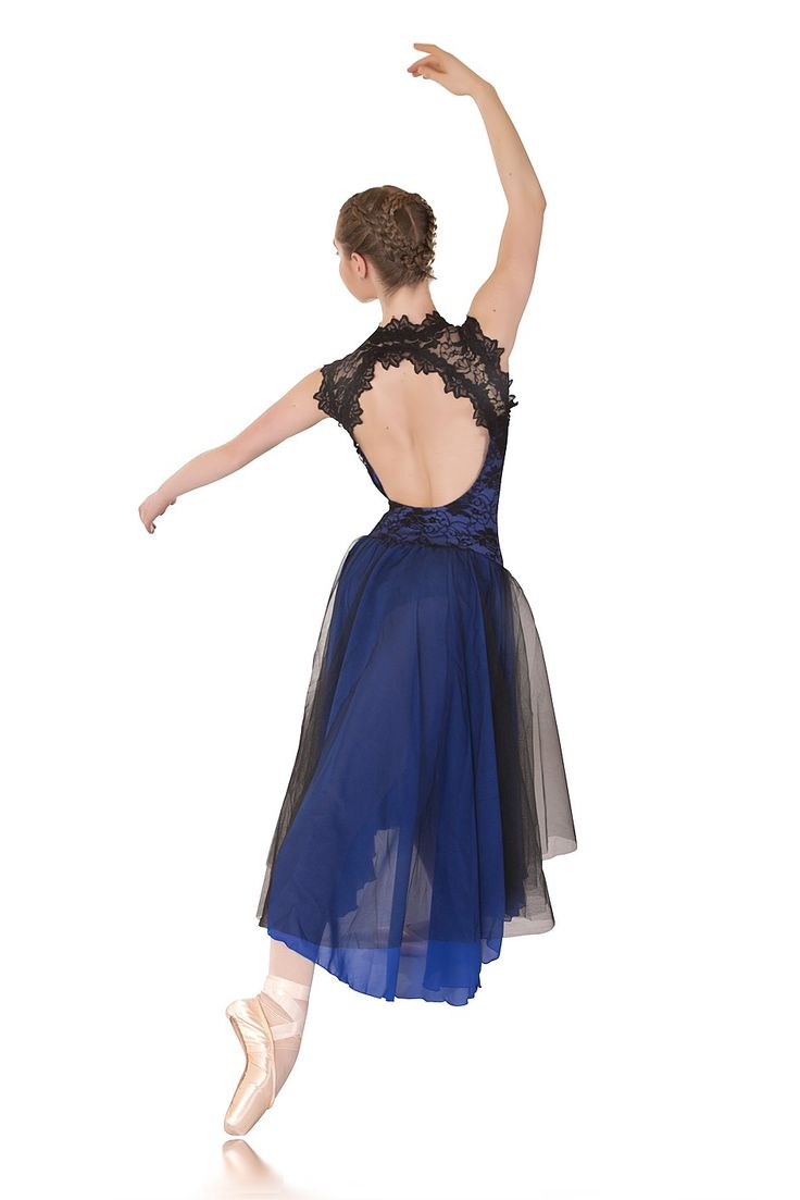 Lyrical Dance Costumes | Regal: Made to Order http://www.stageboutique.com.au/media/catalog/product/cache/1/image/9df78eab33525d08d6e5fb8d27136e95/r/e/regal_royal_blue_black_lace_lyrical_dress_beautiful_backline_dance_costumes_1l.jpg