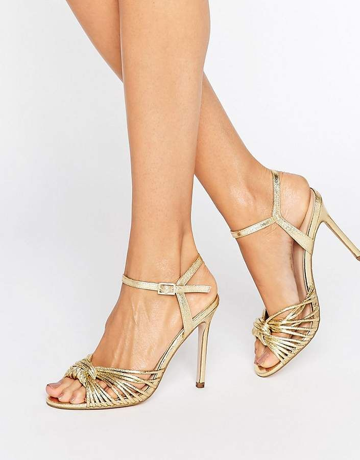 6e4917d41b97 ASOS HARLOW Heeled Sandals Gold High Heels for summer or weddings ...