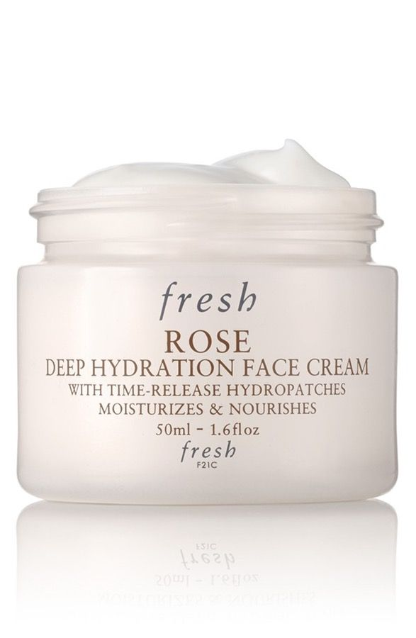 Providing 24-hour moisture to skin, this lightweight time-release formula infused with rosewater and rose flower oil seals in hydration.
