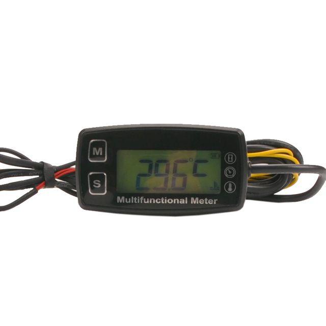 RL-HM035T tacómetro Digital LCD termómetro temperatura para tractor ATV UTV buggy motor fuera de borda de gas JET SKI paramotor
