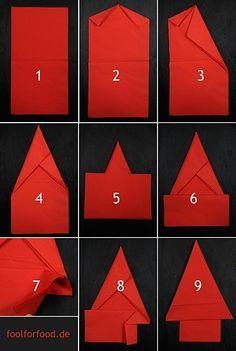 The Christmas Tree Napkin Fold