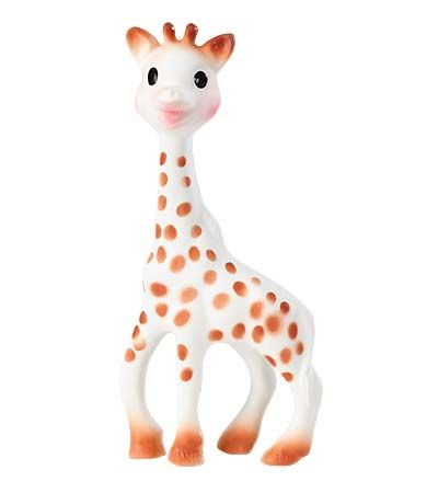 every baby needs a Sophie Giraffe - teething made easier and cuter