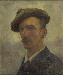 Self Portrait, Stanhope Forbes (1857- 1947) ~ Founder of the Newlyn School of painters in Cornwall