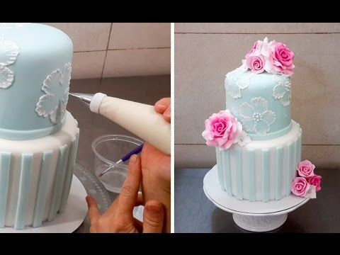 ▶ Brush Embroidery Cake - How To by CakesStepbyStep - YouTube