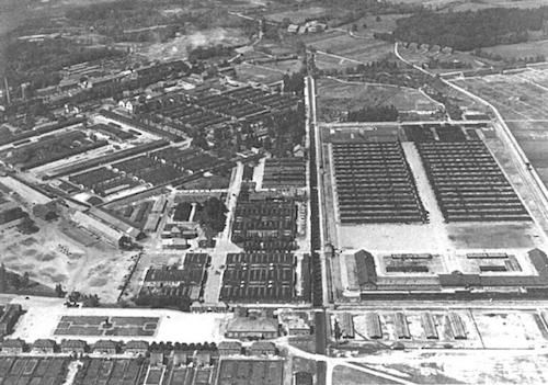 The Dachau concentration camp first opened in 1933, six years before the start of World War II. The Dachau camp system grew to include nearly 100 sub-camps. Image: Robinson Library