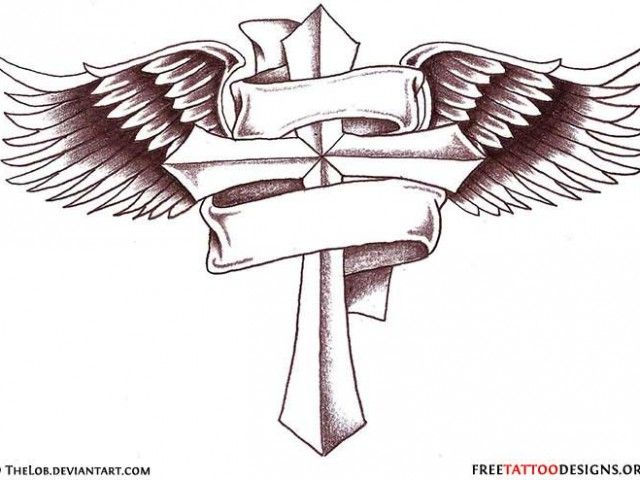 Irish Cross Tattoos for Men | Celtic And » Cross And Banner Tattoo Designs For Men Cross Tattoos ...