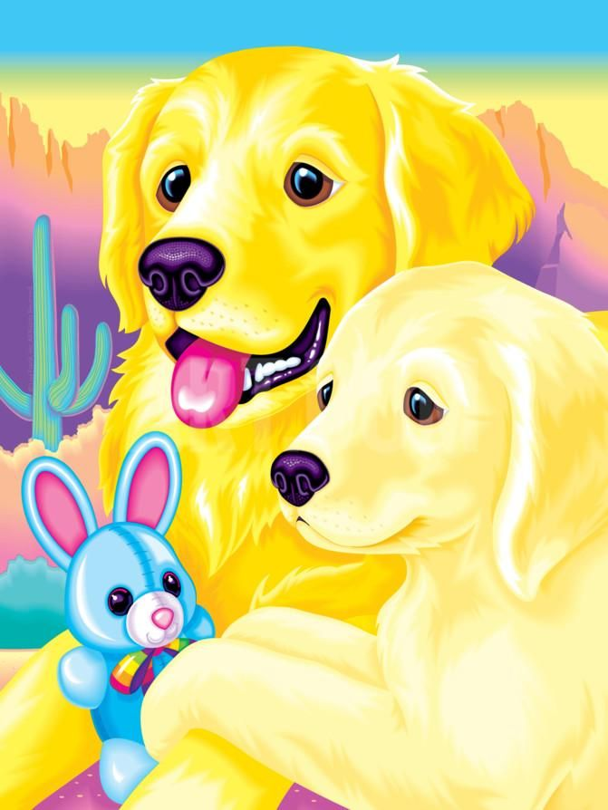 Casey and Caymus '93 Art Print by Lisa Frank at Art.com