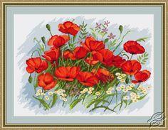 Poppies - Cross Stitch Kits by Luca-S - B272