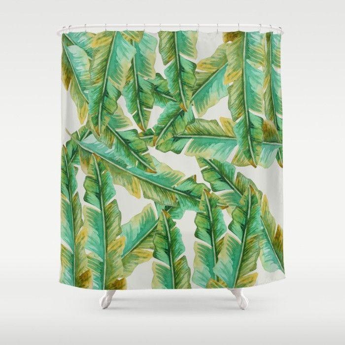 Tropical Banana Leaf Shower Curtain