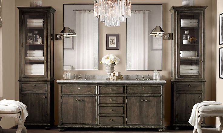 Vanity : Restoration Hardware - LOVE this color