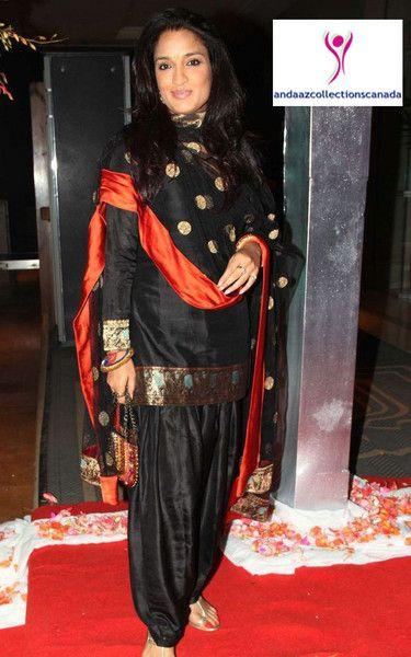 Sensual Black Ramp Salwar Suit buy it now at andaazcollectionscanada
