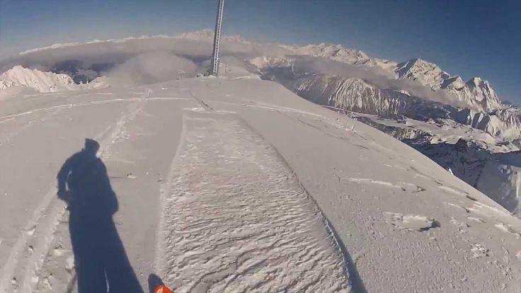 La Saulire le 11/11 hommage aux poilus skieurs