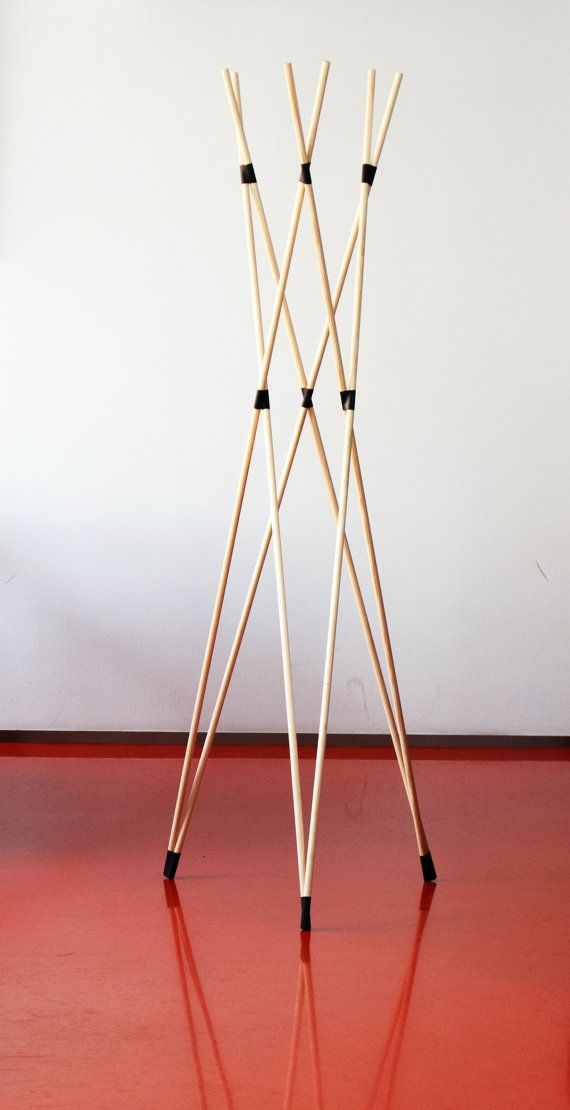 Contemporary Minimalist Wooden Foldable Coat by EduardHerrmann. Could use  it in the garden if you