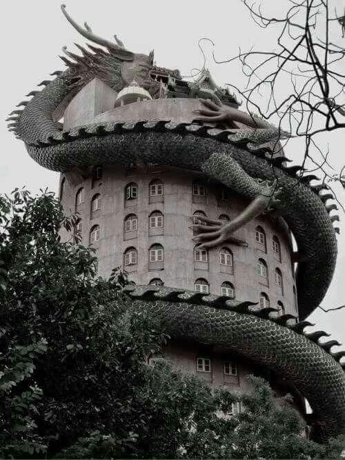 This is really cool. Wat Sampron (Dragon temple) near Bangkok, Thailand.