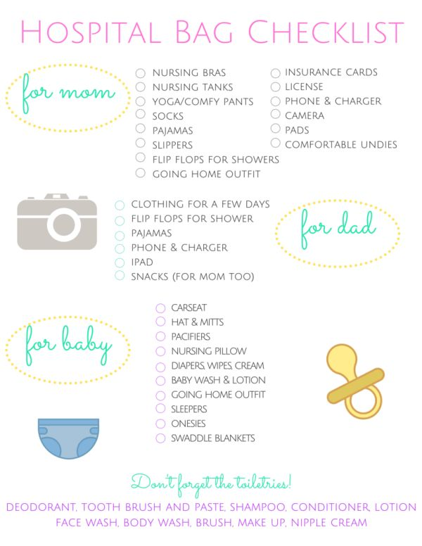 Free Printable! Hospital Bag Checklist