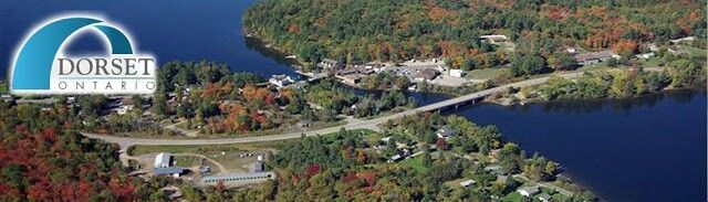 The Hamlet of Dorset, Ontario from above.