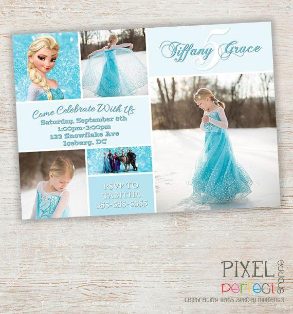 Frozen Birthday Invitation Frozen Birthday by PixelPerfectShoppe, $9.99