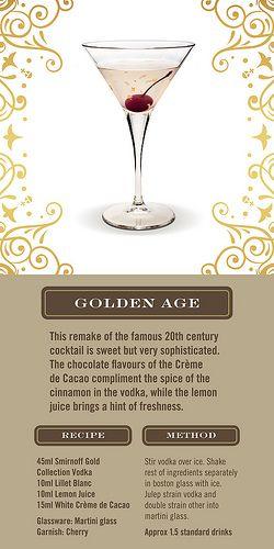 Smirnoff Gold Cocktails