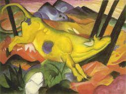 フランツ・マルク 《 黄色い牛 》 1911 、140.5 x 189.2 cm、グッゲンハイム美術館、ニューヨーク