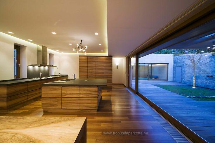 Iroko solid floor