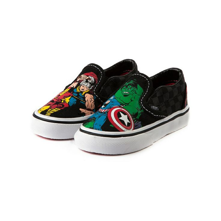 Toddler Vans Slip Avengers Skate Shoe Super Hero