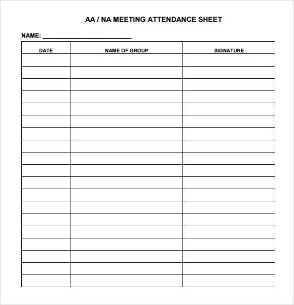 Meeting Attendance Sheet Template Attendance Sheet Sign In Sheet Template Attendance Sheet Template