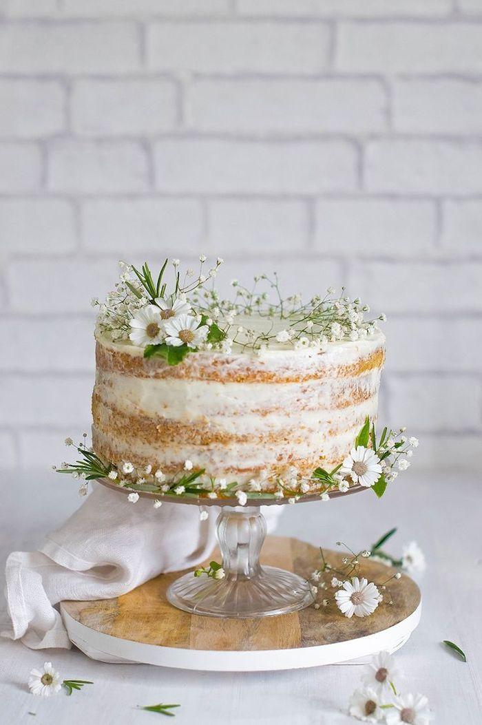 Hochzeitstorten mit Blumen für den Sommer Friedatheres.com nackte Torte mit …   – WHITE WEDDING