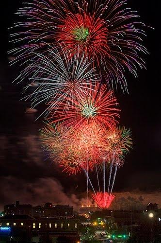 Ann Arbor, Michigan July 4th fireworks