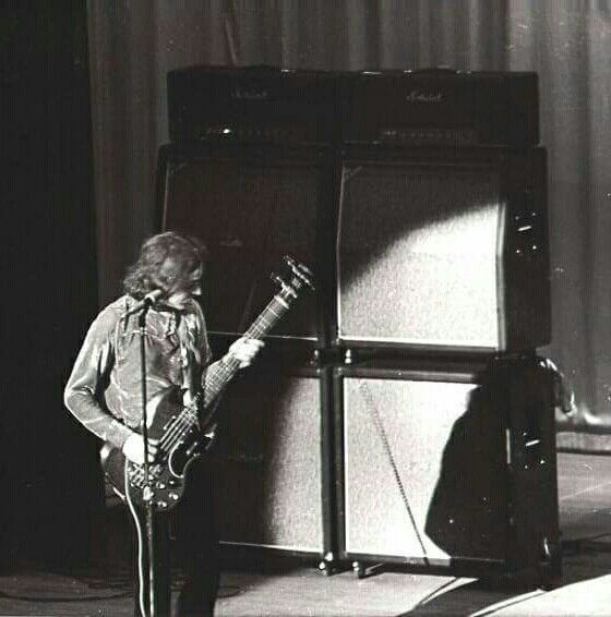 Jack Bruce on stage Cream days Gibson and Marshalls what a sound❤