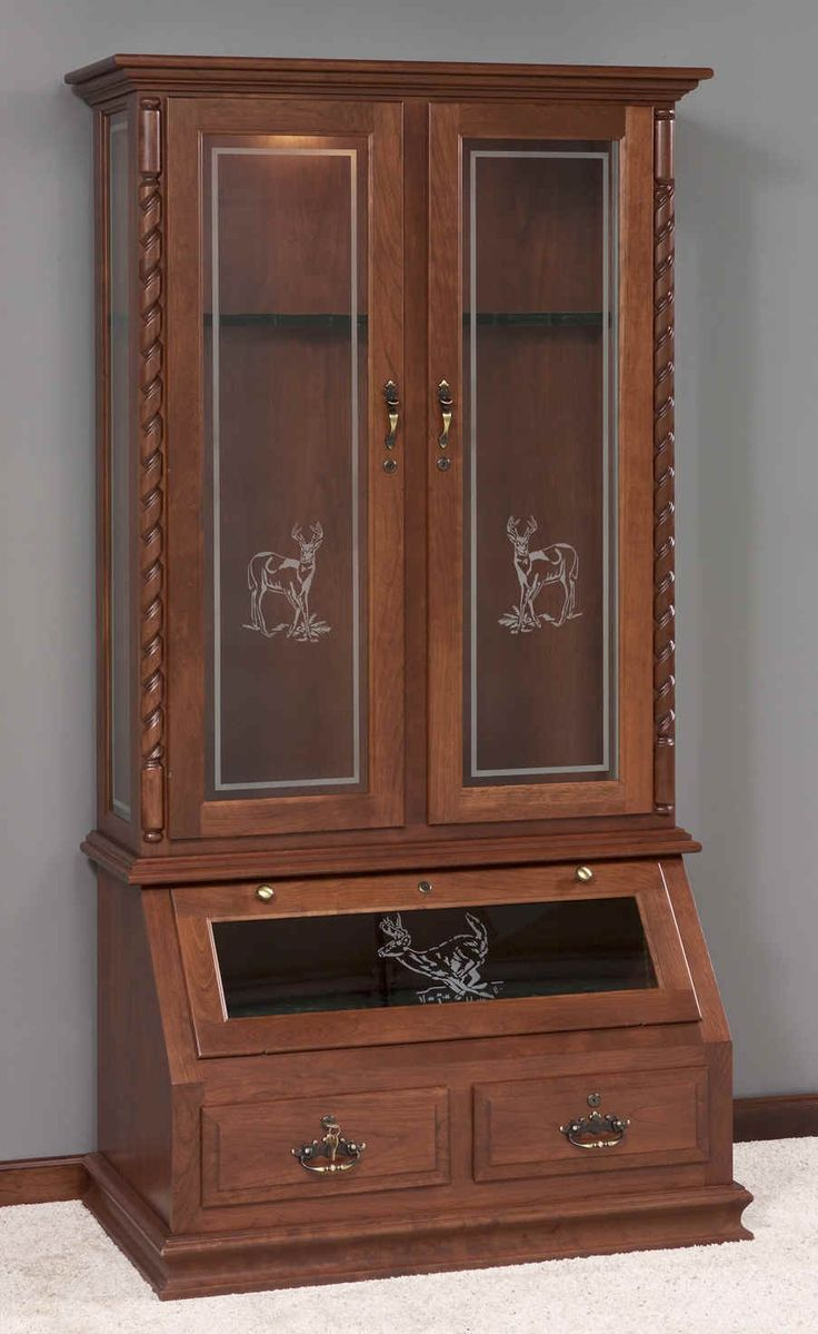 7 best images about gun cabinets on cherries