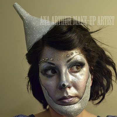 Girl Tin Man!    #stage makeup, Wizard of Oz, Emerald City, fantasy makeup, silver makeup, metallic makeup
