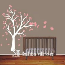 180 x 150 cm árvore grande e pássaros decalque de vinil adesivos de parede crianças Nursery quarto menina decoração