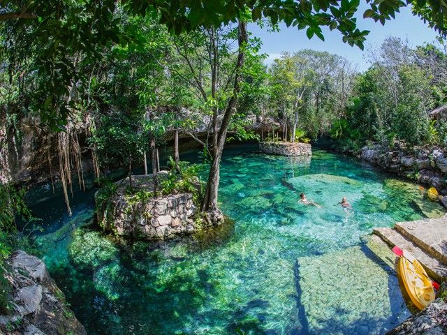 """Kantun Chi is a remarkable Ecopark located in the heart of the Mayan Riviera. Its name means """"yell"""