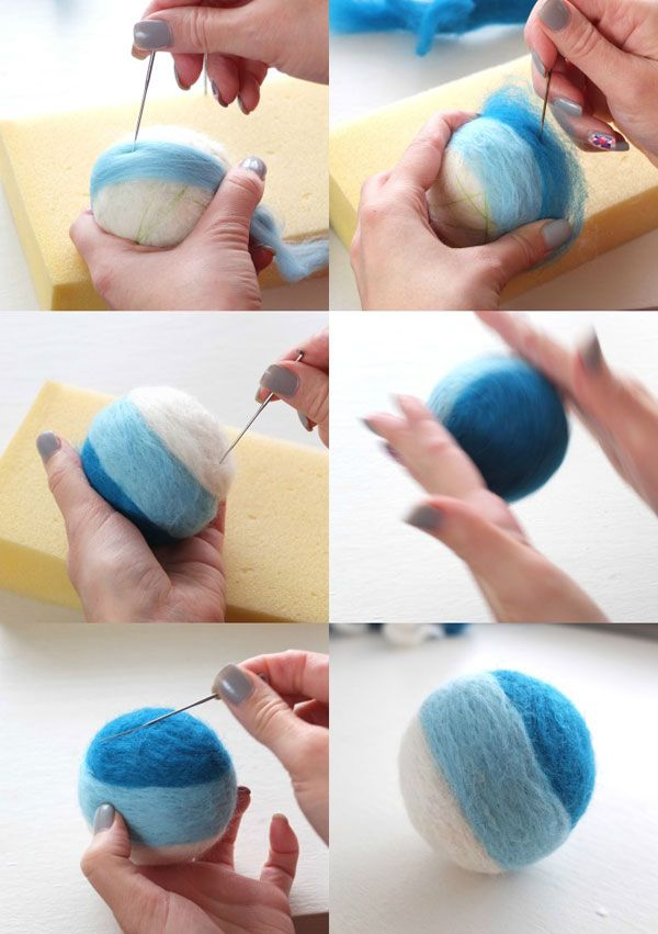 How to Make a Needle Felted Rattle Ball by mypoppet.blogspot.com.au