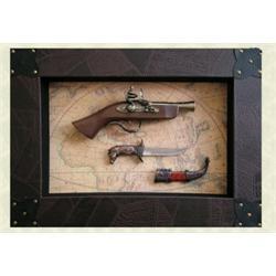 Silahlı Deri Kaplı Eskitme Çerçeve - Erkeklere ilginç ve farklı hediyeler..Babalar günü hediyesi olarak da düşünebilirsiniz.