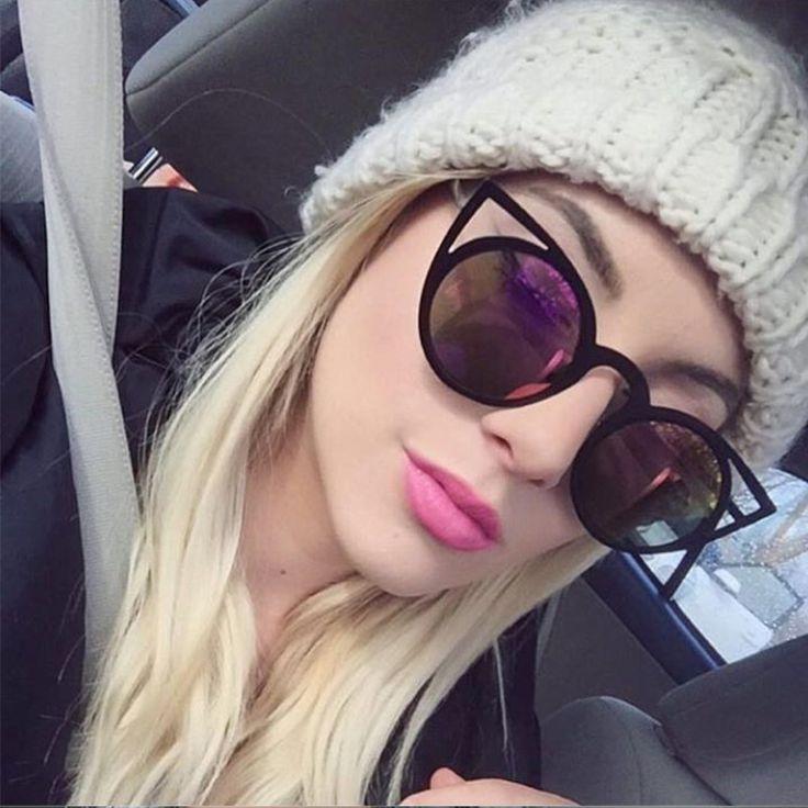 FEIDU 2017 New Fashion Cat Eye Women Sunglasses Brand Designer Retro Round lens Glasses Driving Female Eyewear oculos de sol