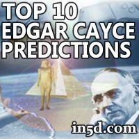 Many of Edgar Cayce's predictions have already come to fruition. Cayce, also known as the Sleeping Prophet, correctly predicted the stock market crash and Great Depression of 1929, the beginning of World War II, and many Earth Changes of modern times.
