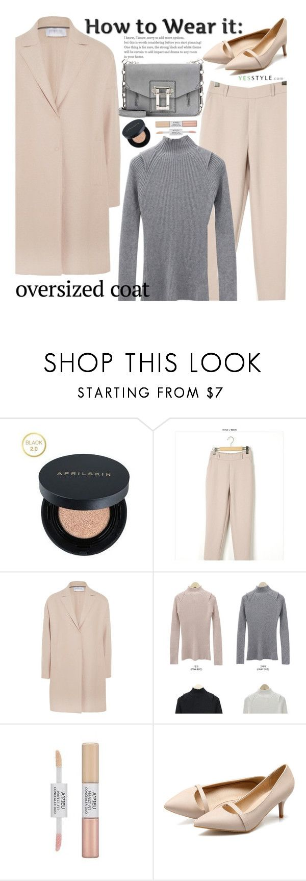 """""""YesStyle - 10% off coupon (Chic Oversized Coats)"""" by beebeely-look ❤ liked on Polyvore featuring Harris Wharf London, Proenza Schouler, Winter, yesstyle and oversizedcoats"""