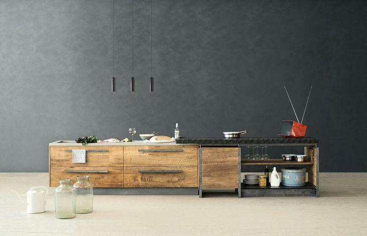 cucina legno grezzo