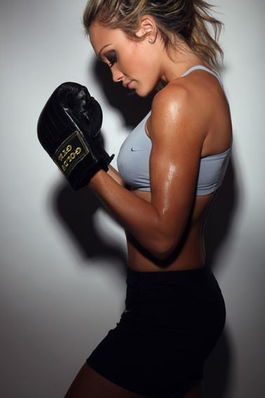 This is the difference between skinny and fit. She has muscle! That is one fit chick :)