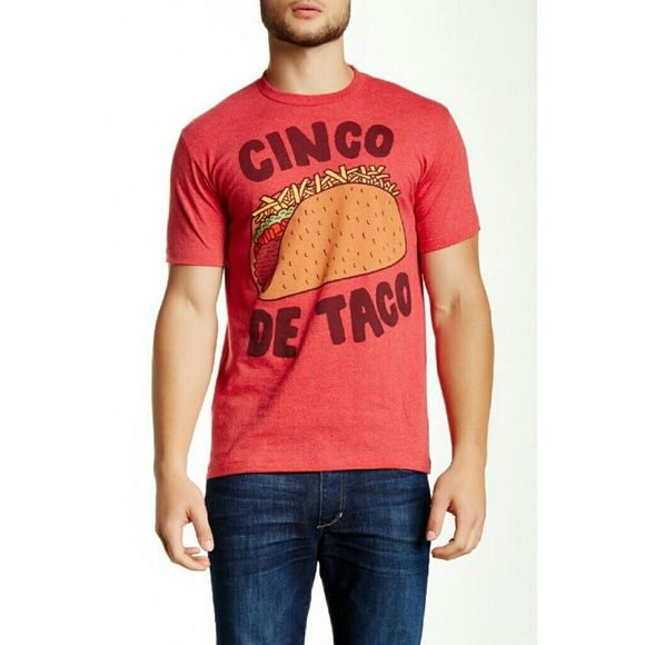 "Men's Cinco De Taco Bioworld Tee Shirt Red Size M Final price, not taking any offers.  Great gift for your guy. NWT 100% short sleeves Tee shirt, made of 60% cotton,  40% polyester. Modern fit, about 41"" at chest. Bioworld Shirts Tees - Short Sleeve"