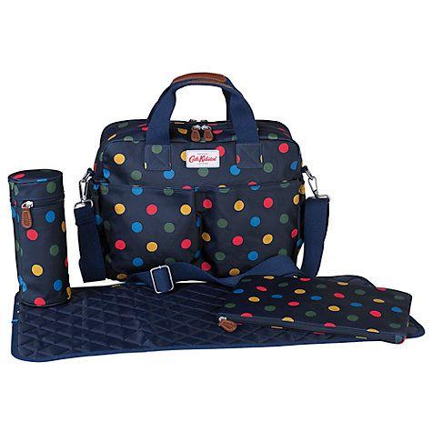 Buy Cath Kidston Button Spot Zip Bag, Navy Online at johnlewis.com