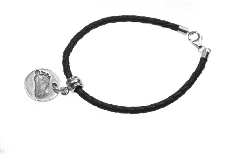 Pandora style leather bracelet with pandora dangle by Smallprint. www.smallprint.co.za