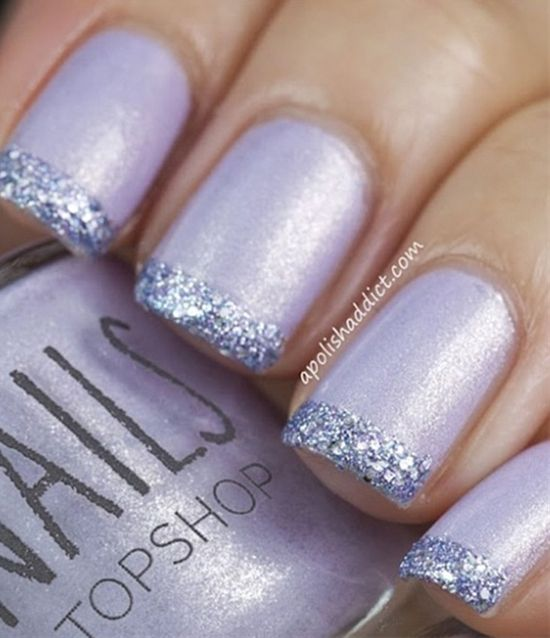 French glittery tips