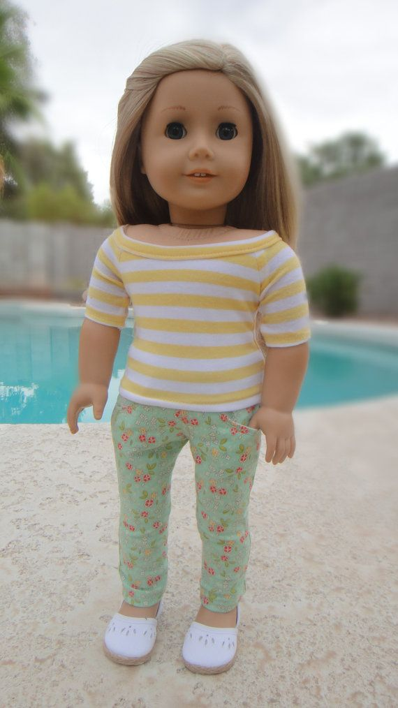 American Girl Doll Clothes Minty Floral by BuzzinBea on Etsy