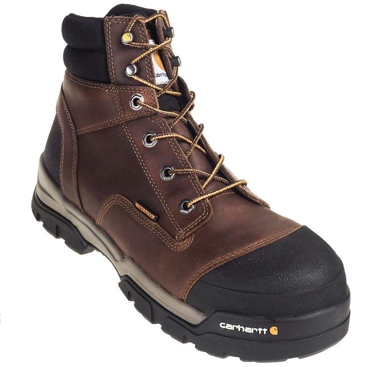 Carhartt Boots Men's CME6355 Energy 6-Inch Waterproof Composite Toe EH Brown Work Boots