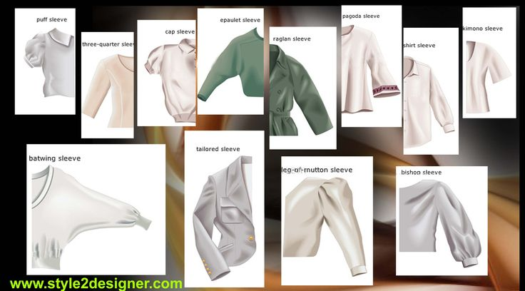 Fashion Types of sleeves, Images