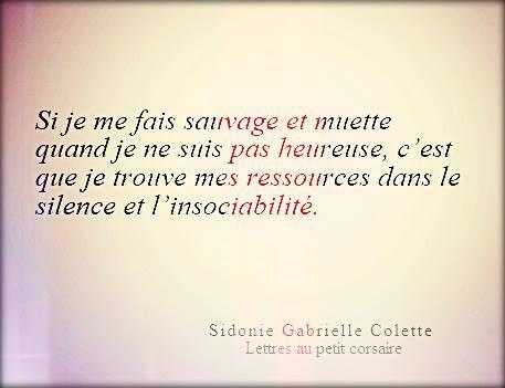 """Sidonie Gabrielle Colette """"Lettres au petit corsaire"""""""