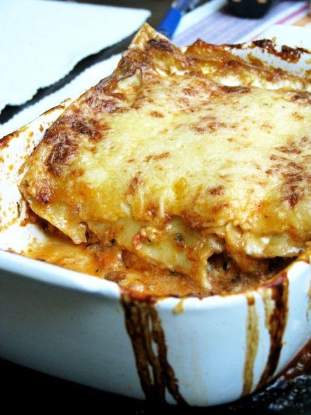 Tipikus Flammeres: A Börzsönyben - lasagne, mascarponéval, vörösborral